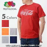 コカ・コーラ×FRUITOFTHELOOMフルーツオブザルーム922-503CC11[a7s]コカ・コーラプリントTシャツ半袖