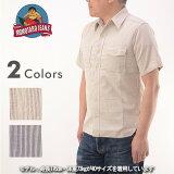 桃太郎ジーンズモモタロウジーンズMOMOTAROJEANS06-055[a7s]シガーポケットシャツヒッコリー半袖