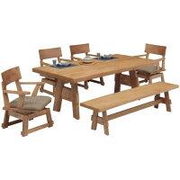 ダイニングセットダイニングテーブルセット6点セットリビング食卓和ベンチ6人用ベンチ付きナチュラルシンプル北欧木製天然木送料無料