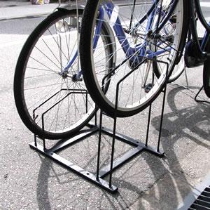 狭いスペースに自転車をシッカリ収納!!自転車ラック(駐輪場) 2台用