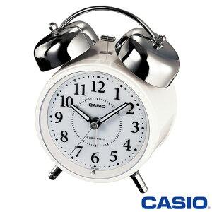 CASIO 正規流通品/大音量ベルアラーム搭載カシオ 電波置き時計 秒針停止機能付き 720J (ホワイト)