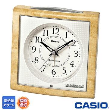 カシオ 電波置き時計 高輝度ブルーLEDライト搭載 温度計+湿度計付き 251NJ (白木目調) ◆2011年−2012年モデル