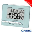 CASIO 正規流通品/カレンダーと温度計を表示カシオ 電波置き時計 温度計付き 80J (パールブルー) 【数量限定カラー】