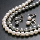 花珠本真珠の質感を再現!国産真珠の最高峰と変わらないほどの装着感!!大珠8mm 花珠シェルパール...