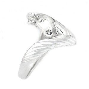 アニマルモチーフリングダイヤモンドホワイトゴールドホース馬リングHK225