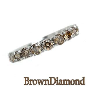 ダイヤモンドリングブラウンダイヤモンドシルバーリングSV361