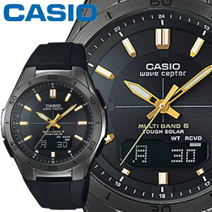 カシオ ウェーブセプター M640B メンズ ブラック×ゴールド 樹脂バンド マルチバンド6 ソーラー電波時計 CASIO Wave Ceptor 2014年モデル【楽ギフ_包装】【楽ギフ_メッセ入力】