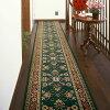 ベルギー製廊下用絨毯〜ラリスタン〜(グリーン/幅66cm×長さ340cm)