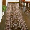 ベルギー製廊下用絨毯〜ラリスタン〜(ベージュ/幅66cm×長さ340cm)