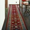 ベルギー製廊下用絨毯〜ラリスタン〜(レッド/幅66cm×長さ340cm)