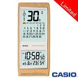 カシオ ウェーブセプター 壁掛け電波時計 日めくりカレンダー 350J 白木目調 【通販限定モデル】