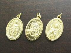 【送料無料】【smtb-k】【w3】Brass 不思議のメダイ、いばらの冠のキリスト、奇しき薔薇の聖母 ...