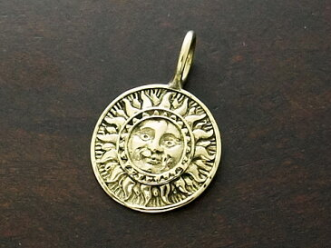 【good vibrations】【太陽】 Brass ペンダントトップ