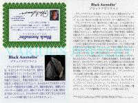 【Heaven&Earth社】【アゾゼオ】【ブラックアゼツライト】ブレスレット8mm