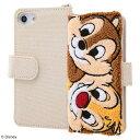 ディズニー iPhone SE(第2世代)/8/7/6s/6 手帳型 ケース カバー サガラ刺繍 [ タオル生地+……