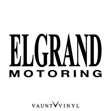 エルグランド モータリング ステッカー MOTORING カッティング 転写 車 シール オリジナル 洗車 ウインドウ サーフィン スーツケース アクセサリー / パーツ led マフラー カスタム / 日産 elgrand エルグラ e50 e51 e52 後期 / 10P05Aug17