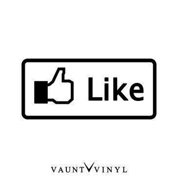 いいねボタン カッティングステッカー イイネ Like / 転写 シール 車 ステッカー / スーツケース サーフィン スノボ / デカール バイナル / facebook POP 宣伝 オリジナル / Nbox プリウス ハイエース 200系 / USDM VIP / 10P05Aug17