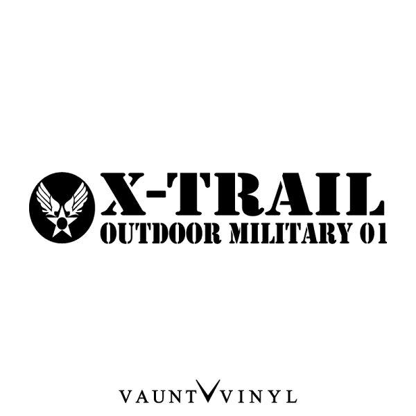 OutdoorMilitaryエクストレイルカッティングステッカーx-trailt31t30グリル後期カスタム車ステッカーシール