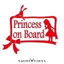 アリス風♪ Princess on board カッティング ステッカー 車 ス...