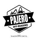 OFF ROADING PAJERO パジェロ カッティング ステッカー v9 h5...