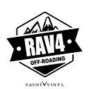 OFF ROADING RAV4 ラヴフォー カッティング ステッカー sxa ...