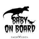 恐竜 BABY ON BOARD カッティング ステッカー baby in car ki...