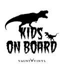 恐竜 KIDS ON BOARD カッティング ステッカー kids in car ba...