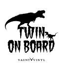 恐竜 TWIN ON BOARD カッティング ステッカー kids in car ba...