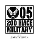 MILITARY 200HIACE 200ハイエース カッティング ステッカー ...