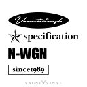 N-WGN mix ステッカー Nワゴン スラッシュ SLASH カスタム NB...