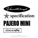 パジェロミニ mix ステッカー パジェロミニ v9 h58a パジェロ...