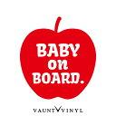 リンゴ baby on board ステッカー baby in car ステッカー 車...
