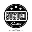 SUZUKI CUSTOM カッティング ステッカー スズキ...