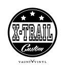 X-TRAIL CUSTOM カッティング ステッカー エク...