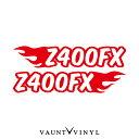 フレイム Z400FX カッティング ステッカー 左右セット...