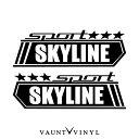 SPORTS スカイライン ステッカー 左右セット スカイライン v3...