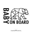 ジオメトリック クマ Baby on board カッティング ステッカー...