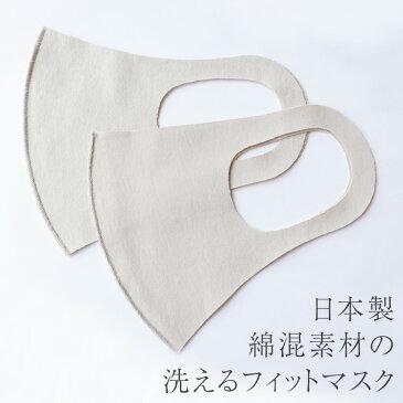 フィットマスク マスク 2枚セット 洗えるマスク 日本製 大人 おしゃれ 洗える 大人用 男性用 女性用 接触冷感 繰り返し 使える レディース メンズ 国産 ポリウレタン 綿 立体 立体マスク 軽量 痛くない 伸縮性あり ホワイト グレー イエロー 夏 夏用 涼しい 白