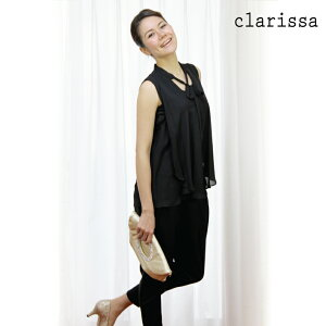 【clarissa】個性的ノースリーブトップス&サルエル風パンツのツーピースパンツドレス