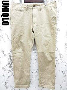 【UNIQLO/ユニクロ】 ストレート コットン チノパン 88 ベージュ ■ メンズ 【ベクトル 古着】...