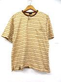FULL HOUSE Tシャツ ボーダー柄 半袖 カットソー ベージュ LL ※OA ☆☆ メンズ 【ベクトル 古着】【中古】 160829