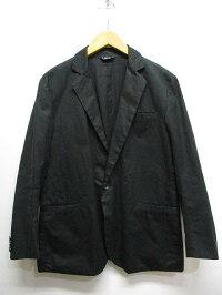【中古】ロロ LOLO カジュアル テーラード ジャケット M 黒ブラック 綿100% 日本製 メンズ 【ベクトル 古着】 191111 ベクトルプレミアム店