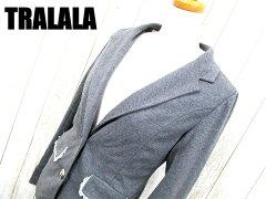 【TRALALA/トュララ】 2B テーラードジャケット ブレザー グレー レディース 【ベクトル 古着】...