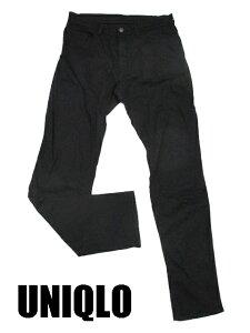 【UNIQLO/ユニクロ】 コットン スキニーパンツ 30 黒 メンズ 【ベクトル 古着】【中古】 15011...