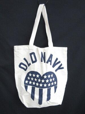 【OLD NAVY/オールドネイビー】 トートバッグ ベージュ系 プリント ハート レディース 【ベク...