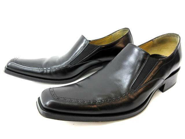 ビサルノVISARUNOCARLOBOTRINI靴ビジネスシューズローフゼ革靴イタリア製黒ブラック40メンズ【中古】