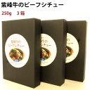 三洋産業 紫峰牛ビーフシチューセット 250g 3箱