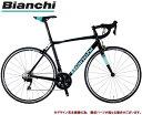 ロードバイク 2021 BIANCHI ビアンキ VIA NIRONE 7 SHIMANO 105 ビア ニローネ7 シマノ105 BLACK(NN) 2×11SP 700C