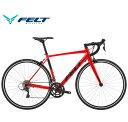 (選べる特典付)ロードバイク 2020 FELT フェルト FR60 レッド SHIMANO CLARIS 16段変速 700C アルミ 日本限定モデル