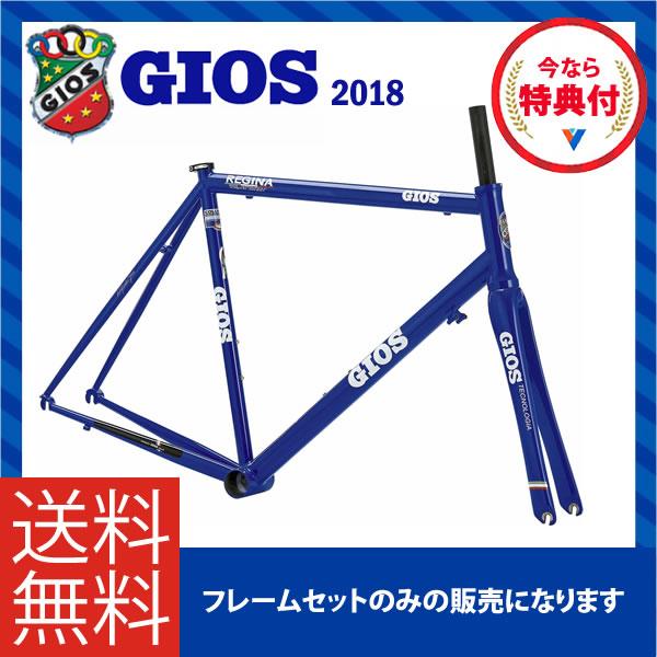 (特典付)ロードレーサー 2018年モデル GIOS ジオス REGINA frameset レジーナフレームセット ジオスブルー
